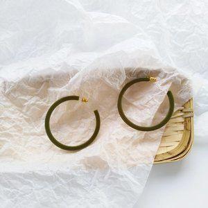 🍵 Matcha Green Hoops Earrings Sterling Silver
